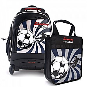 Школьный рюкзак на колесах – ранец Wheelpak Shooting black  (для 0-3 класса, 15 литров)