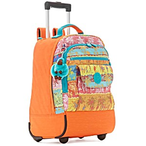 Рюкзак на колесах Kipling Sanaa PRT цвет оранжевый