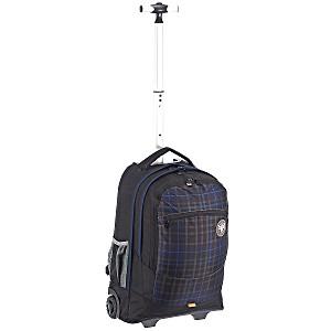 Рюкзак на колесах Chiemsee Клетка синяя