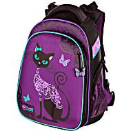 Школьный ранец Hummingbird T71 фиолетовая кошка