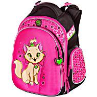 Школьные рюкзаки для девочек 1 4 Hummingbird TK29 Кошка розовая с мешком для обуви + пенал в подарок
