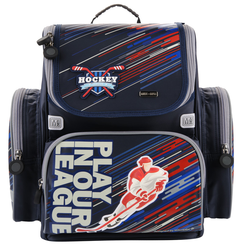 Ранец Mike Mar Хоккей 1074-ММ-154 + мешок для обуви + пенал в подарок, - фото 1