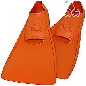 Ласты детские эластичные маленький размер 24 оранжевые закрытая пятка SwimSafe (Свимсейф) Германия