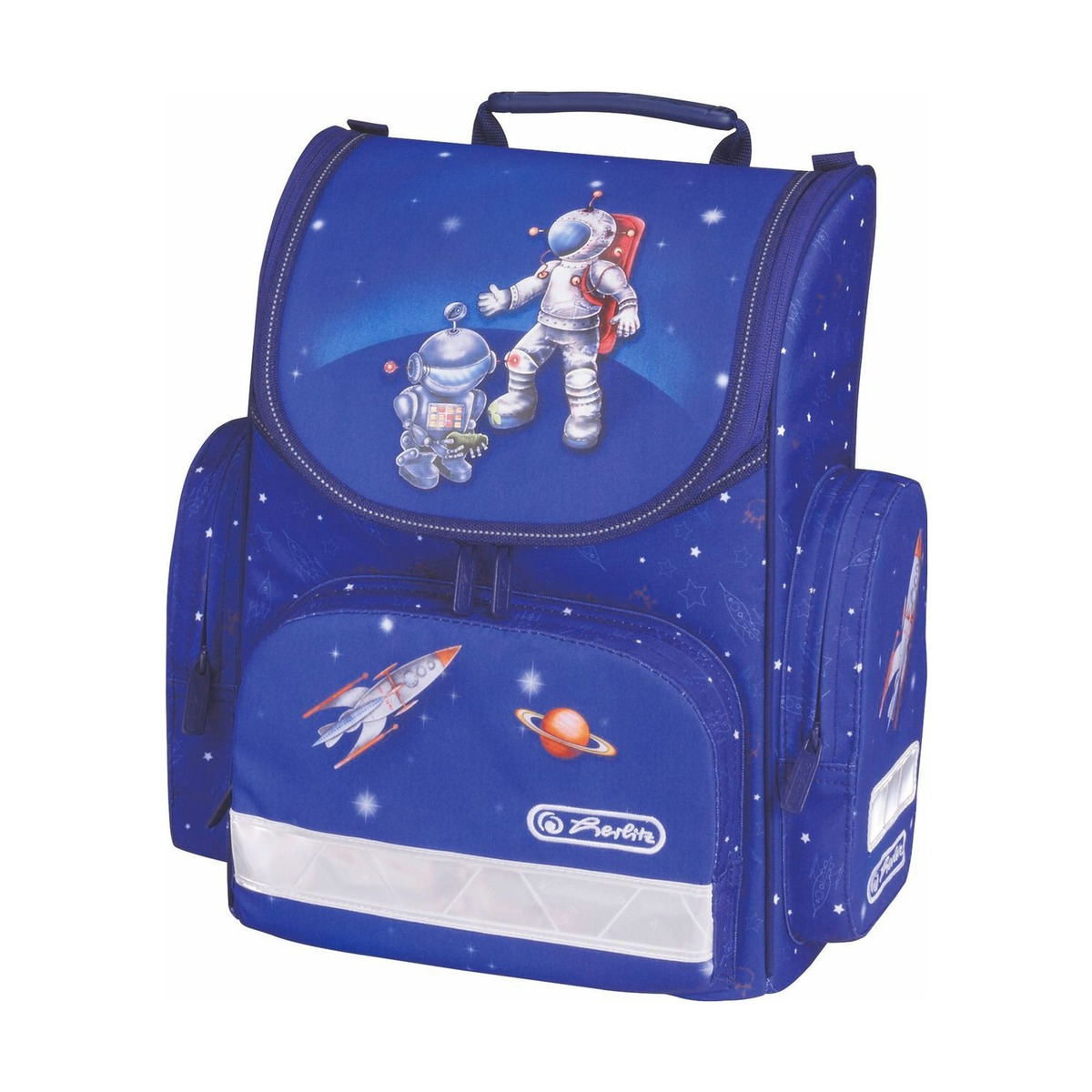 Ранец Herlitz Mini Astranaut без наполнения Космонавт + пенал в подарок, - фото 1